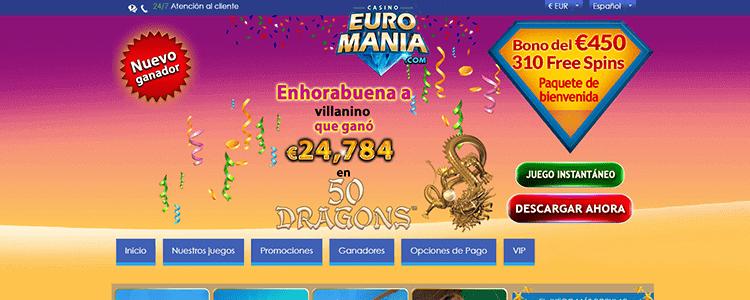 Euromania bono de bienvenida