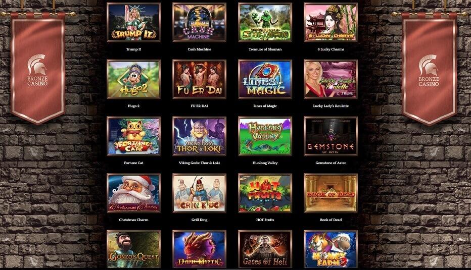 bronze casino juegos tragaperras