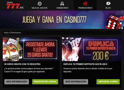 casino 777 bonos