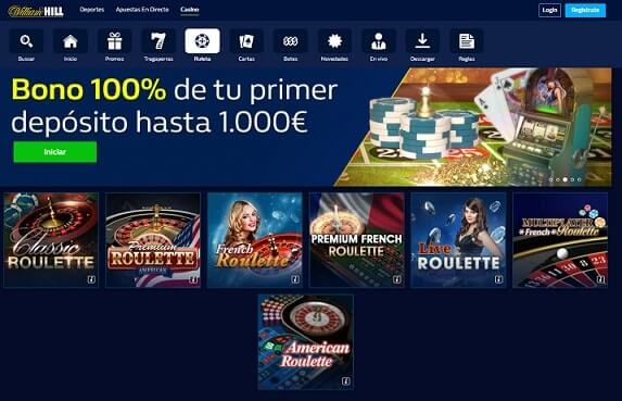 william hill bonos