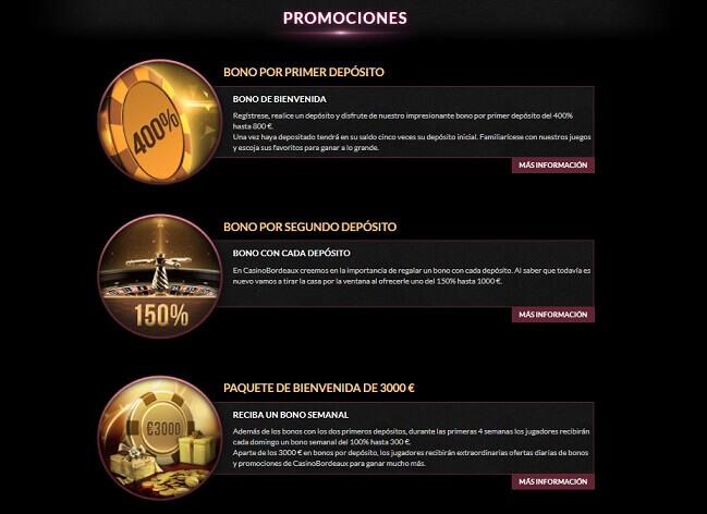 Casino Bordeaux bonos promociones