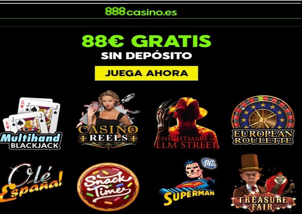 Bono gratis por registro 88 euros Casino 888