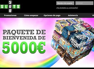 slots 500 bono
