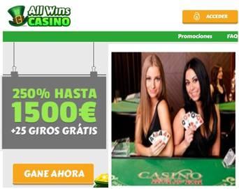 Casino Allwins bono de 250% sobre el primer depósito
