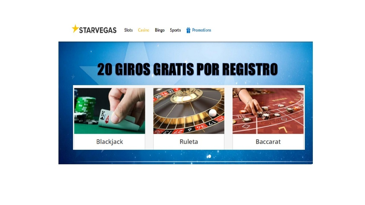 Por registro casino Starvegas entrega 20 giros