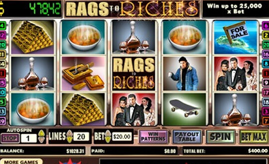 Rags to Riches tragamonedas