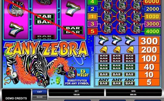 tragaperras Zany Zebra