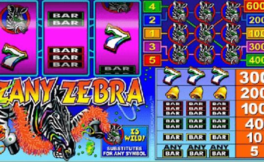 Zany Zebra tragamonedas