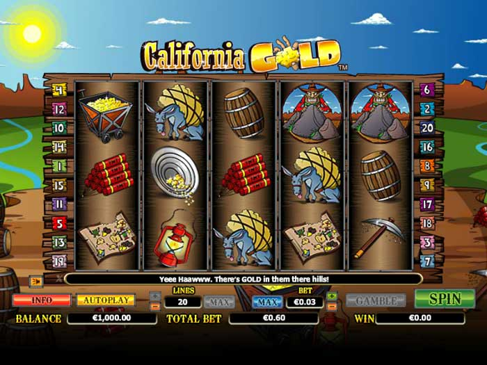 Tragaperras California Gold iframe